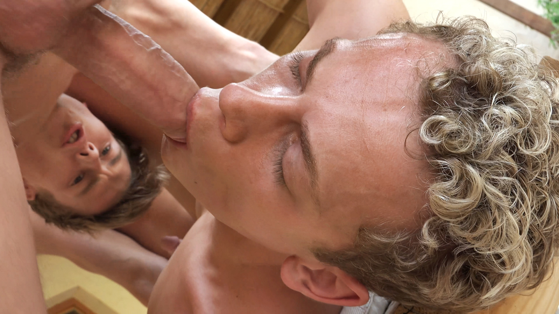 Sexy Belami gay boys having a threesome