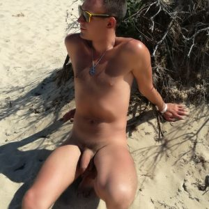 Nudist with a big cock