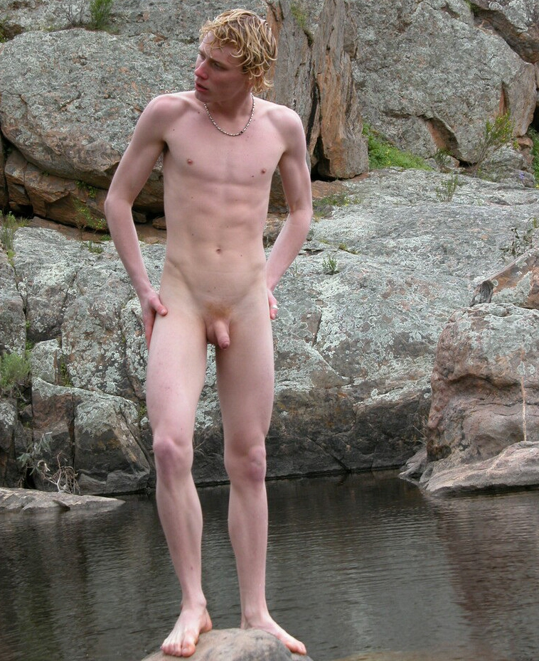 Blonde nudist boy