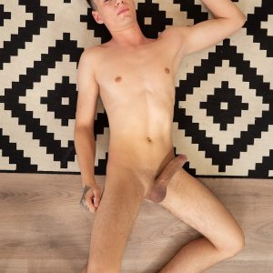 Sexy boy with a nice big smooth shaved cock