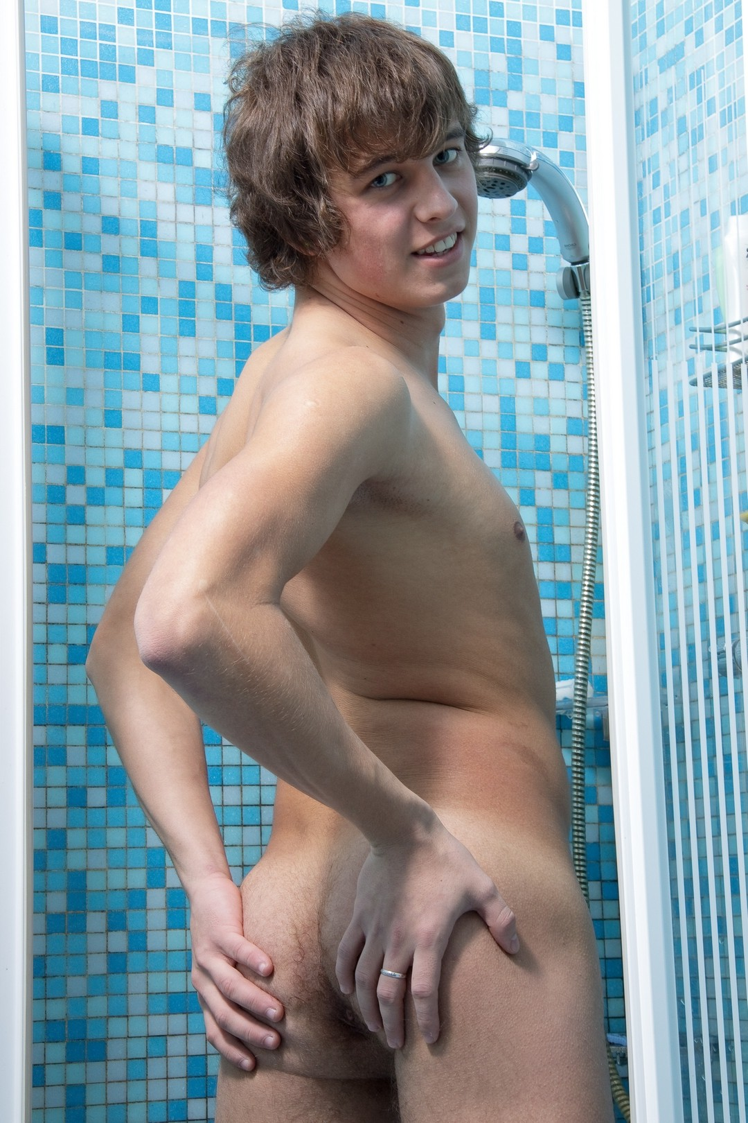 Cute boy with an uncut penis