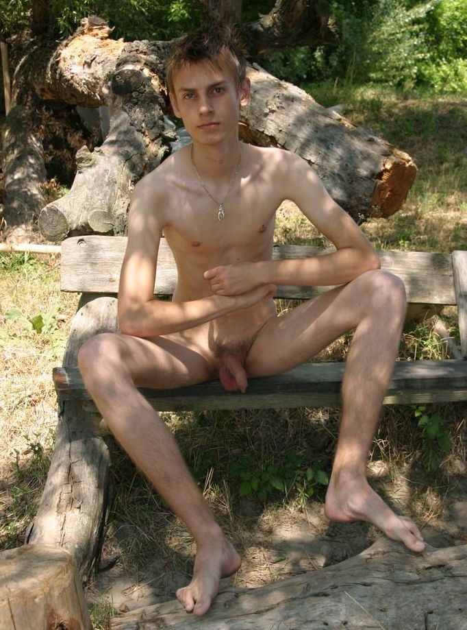 Cute skinny nudist boy
