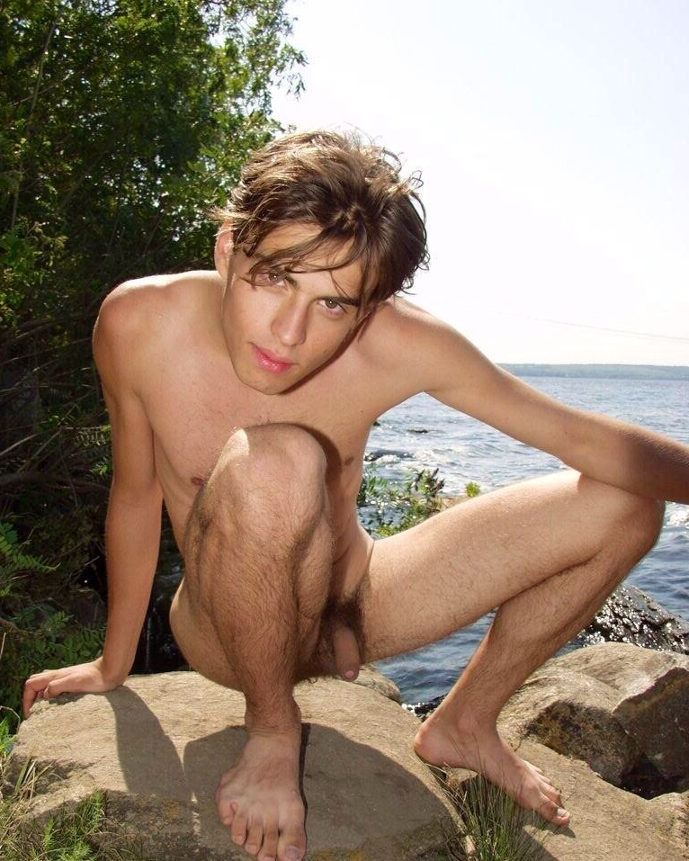 Cute uncut nudist boy