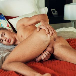 Elio Chalamet jerking off his hard cock and cums