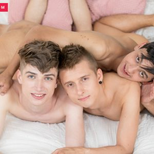 Sexy European gay boys having a threesome