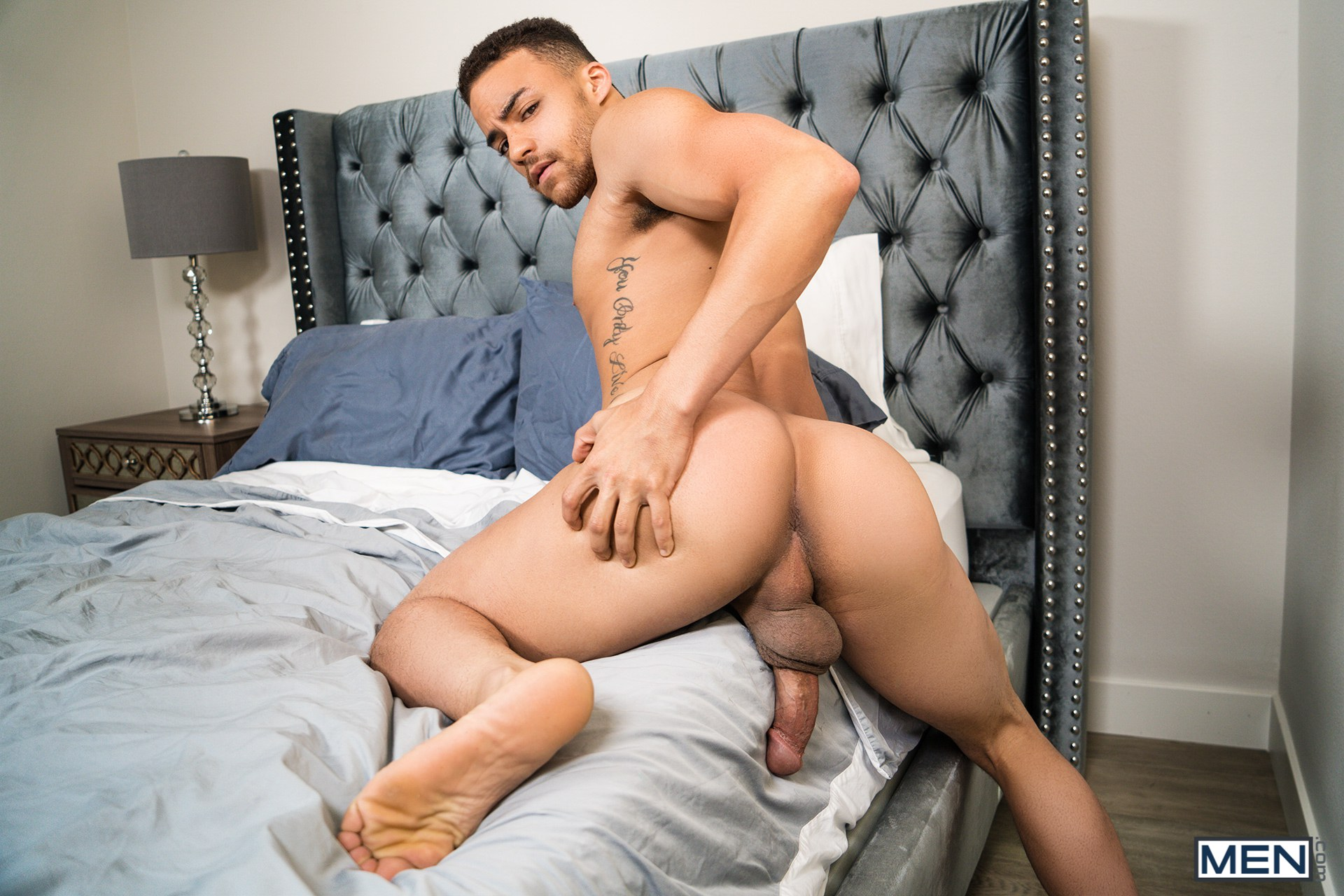 Gay porn star Beaux Banks and Mason Lear fucking