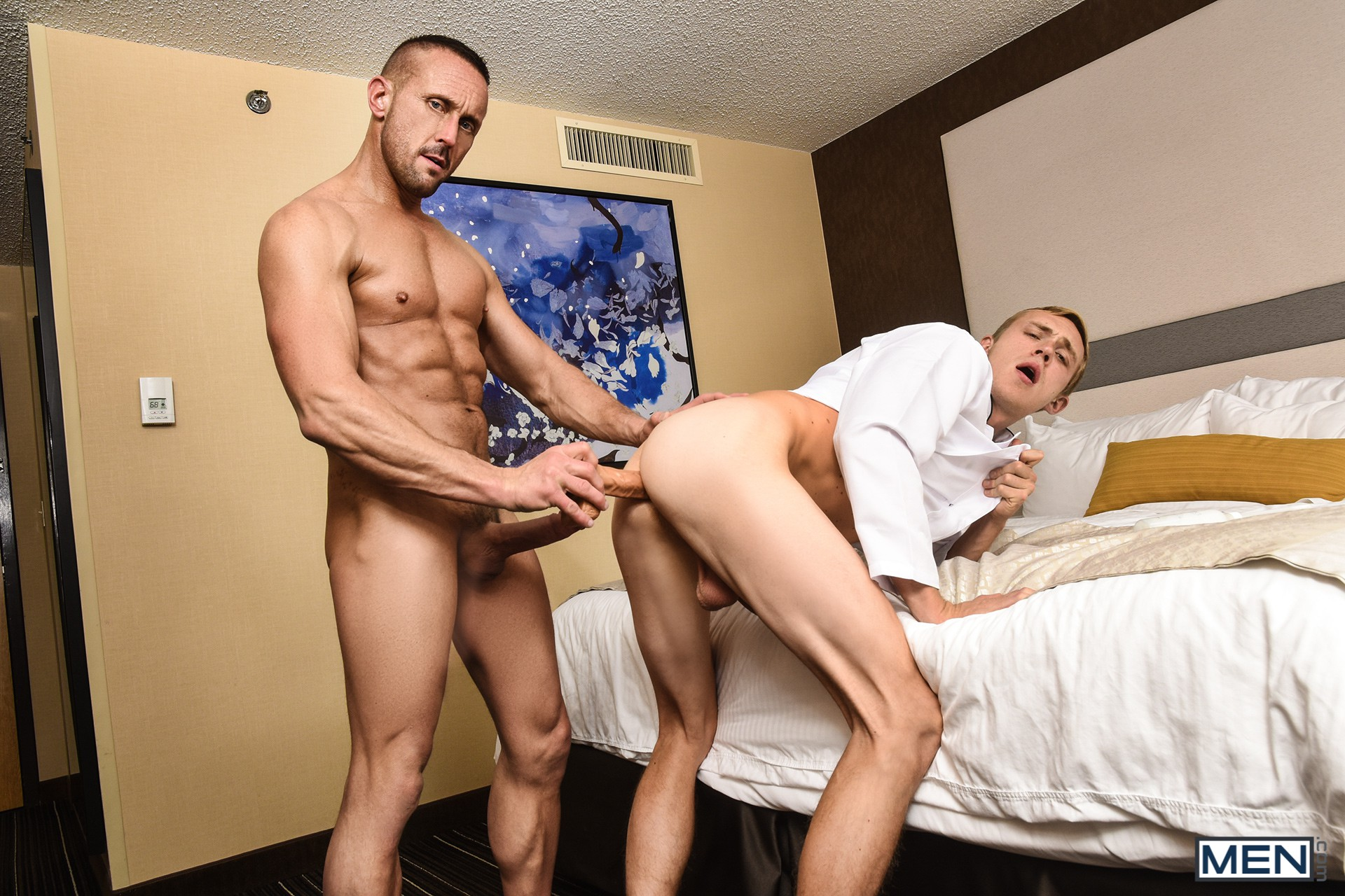 Horny gay men having hardcore sex