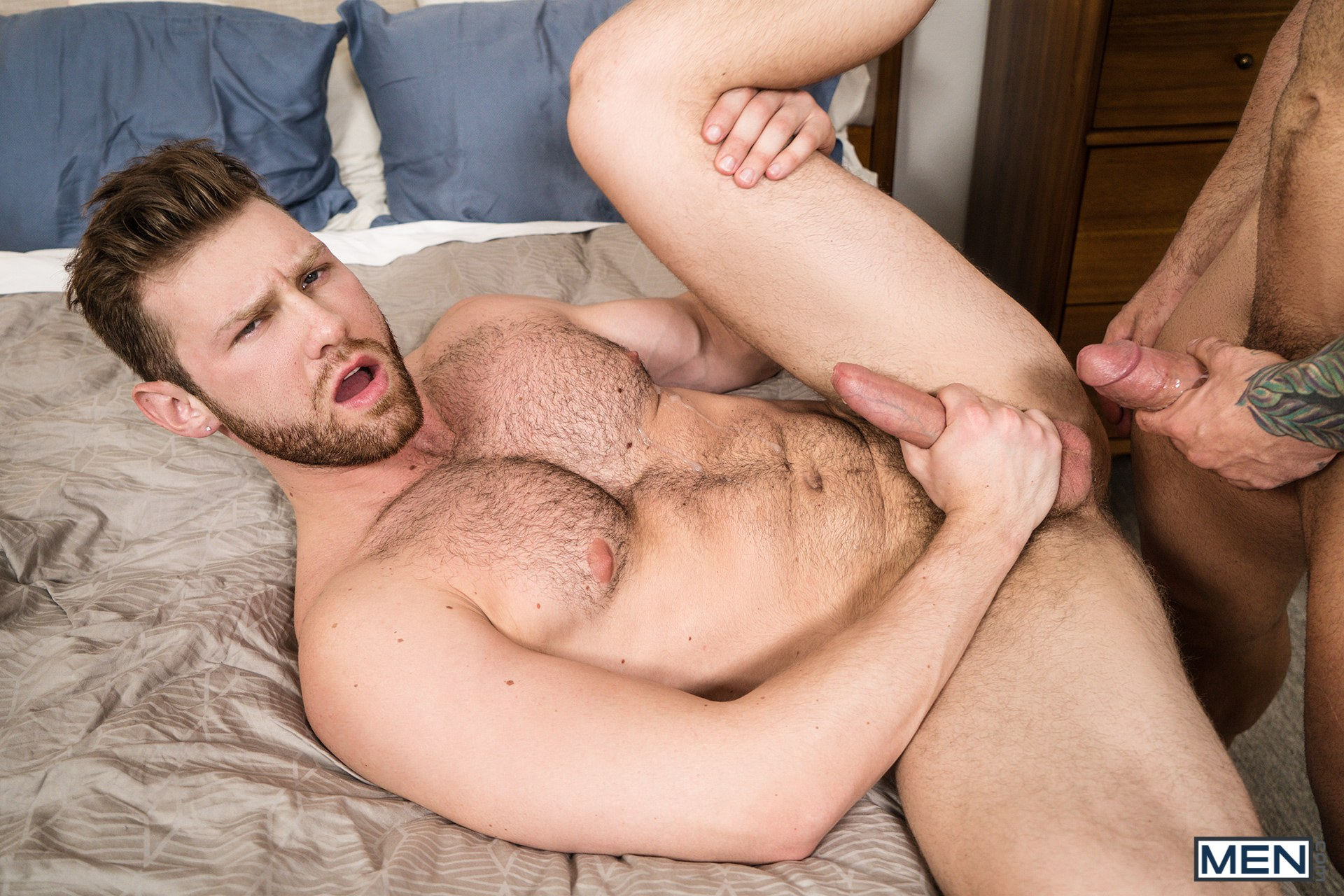 Bearded gay men sucking cock and fucking