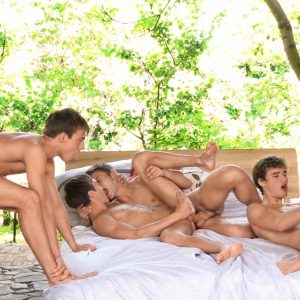 European gay boys having an orgy