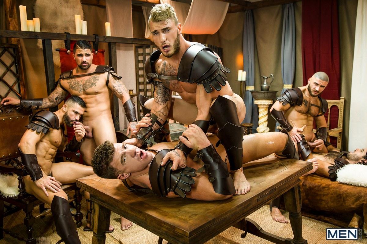 Gay Porn Stars Having An Orgy