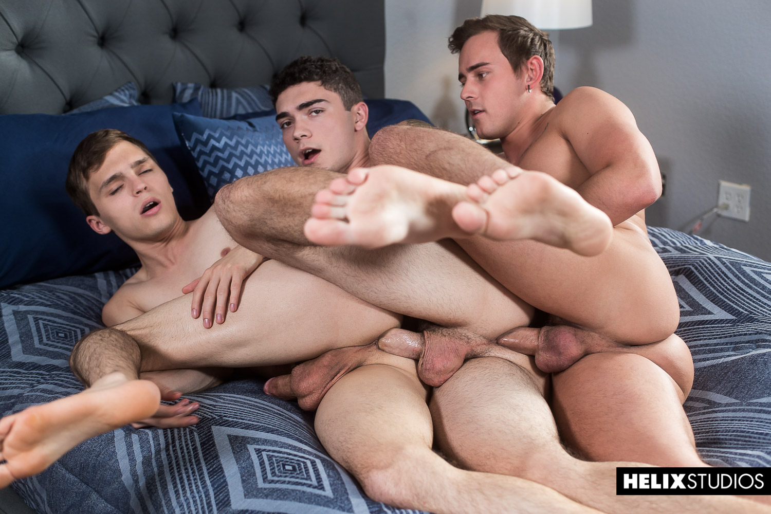 Helix Studios gay boys having a threesome