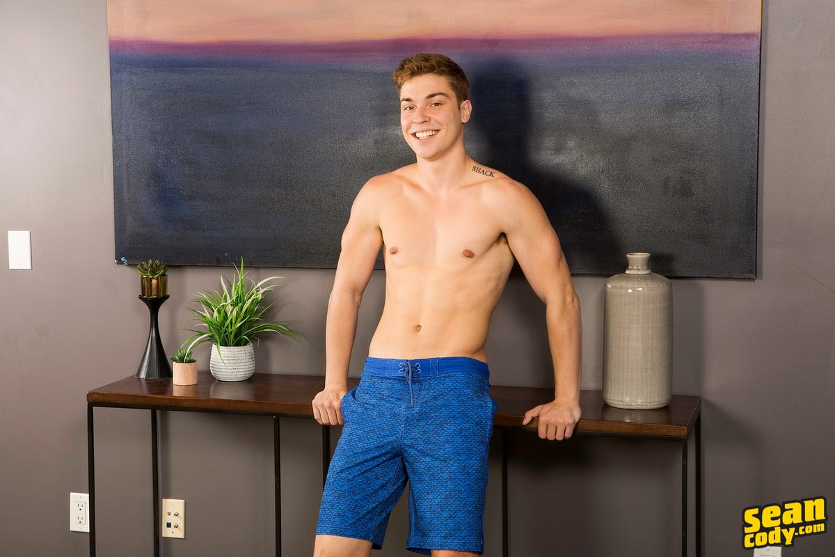 Gay Porn Guy In Blue Shorts