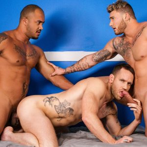 Gay threesome porn