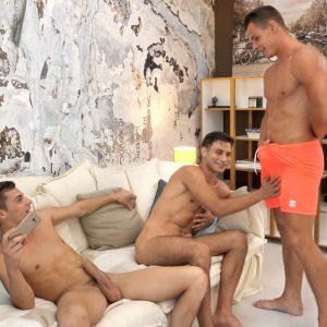 Belami boys making threesome gay porn