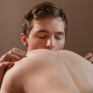 Gay twinks making bareback porn