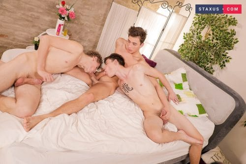 Gay twink threesome