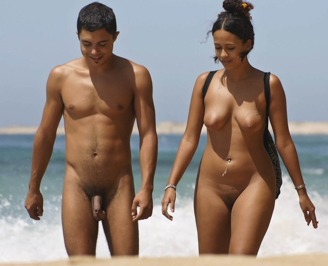 Latino nudist man