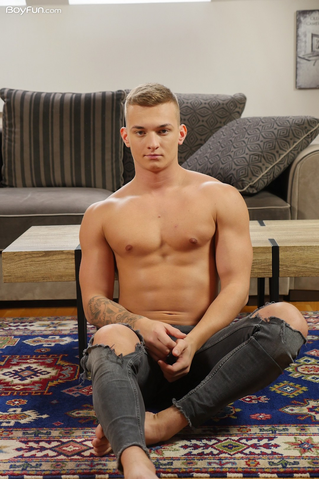 Sexy Lucas Drake from BoyFun getting naked