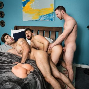 Gay men having hardcore sex