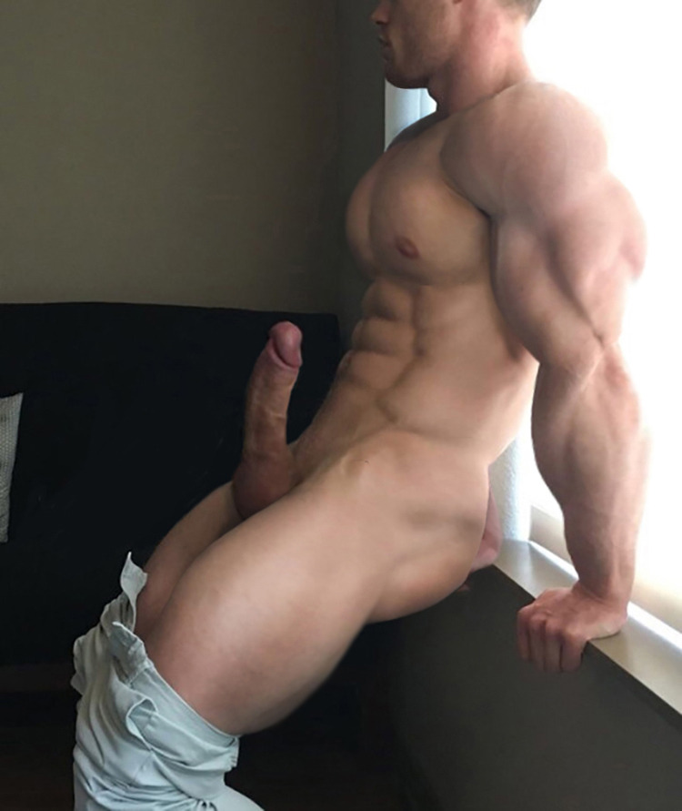 Muscle man with a big cock