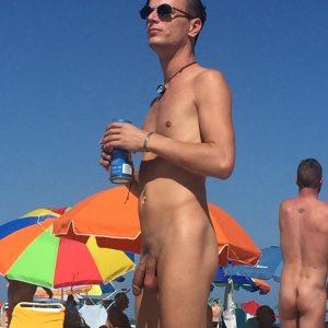Naked Man At A Beach