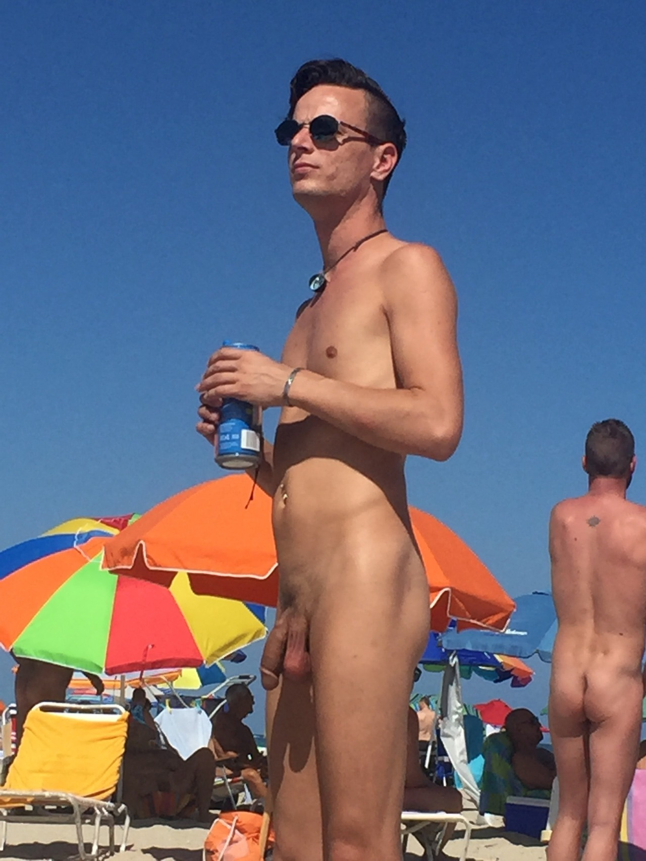 Naked Man At The Beach