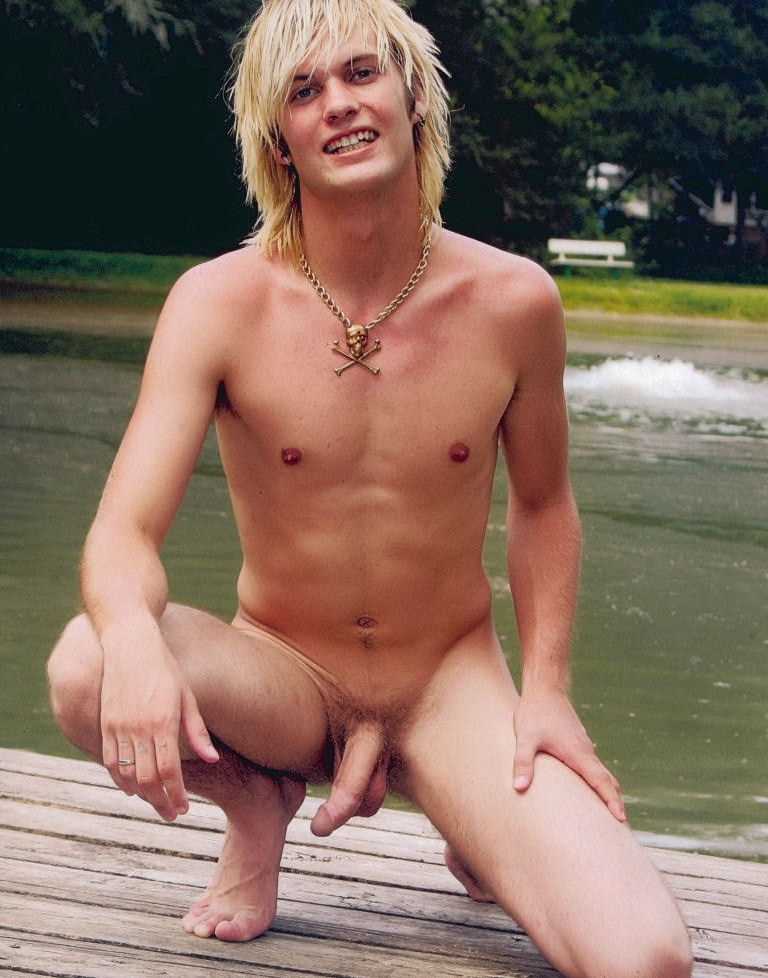 Nude boy with a big cock