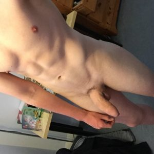 Nude boy with a big penis