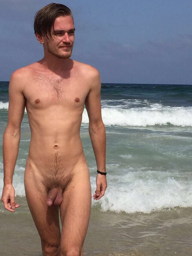 Nude Man At The Beach