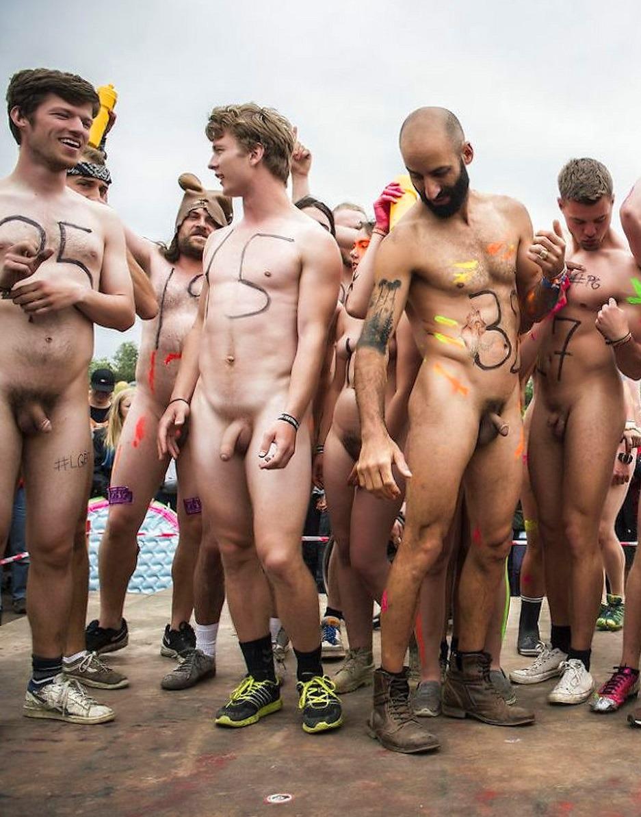 Nude men in public