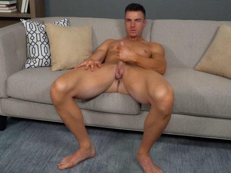 Nude Stud Jerking Off