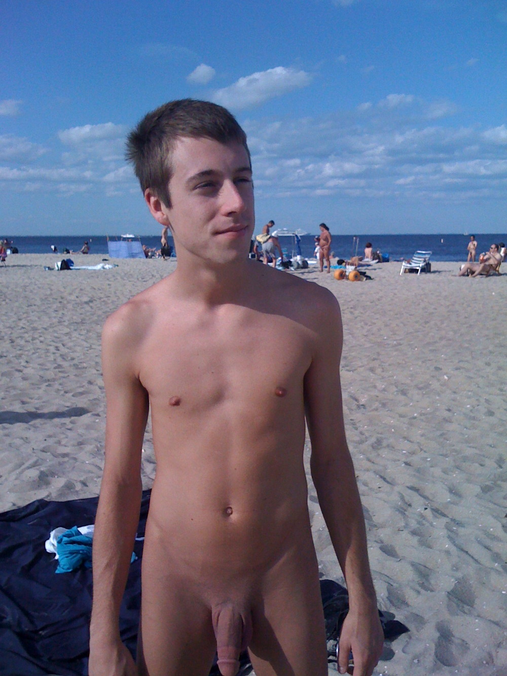 Nudist beach boy