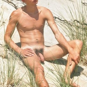 Nudist boy with a soft hairy cock