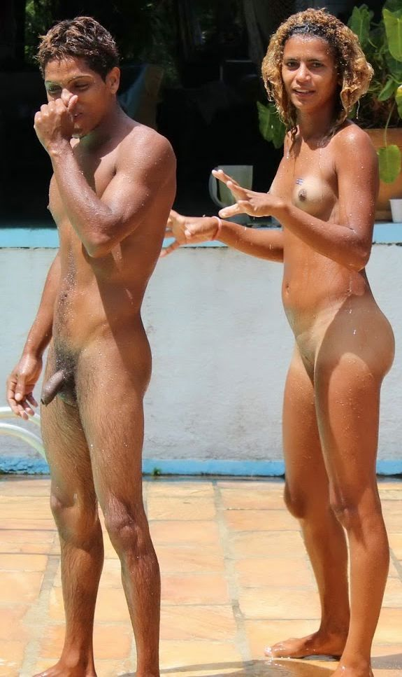 Nudist Latino Couple