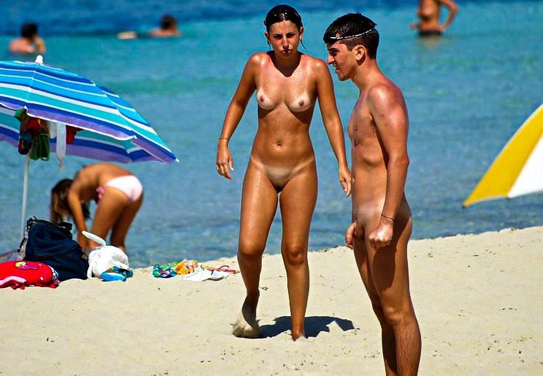 Nudist strand stor Dick