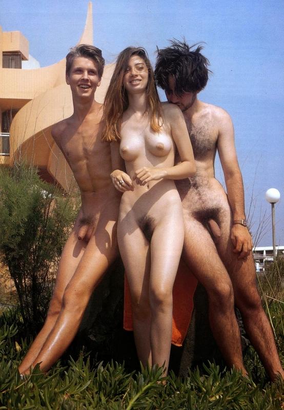 Nudist people