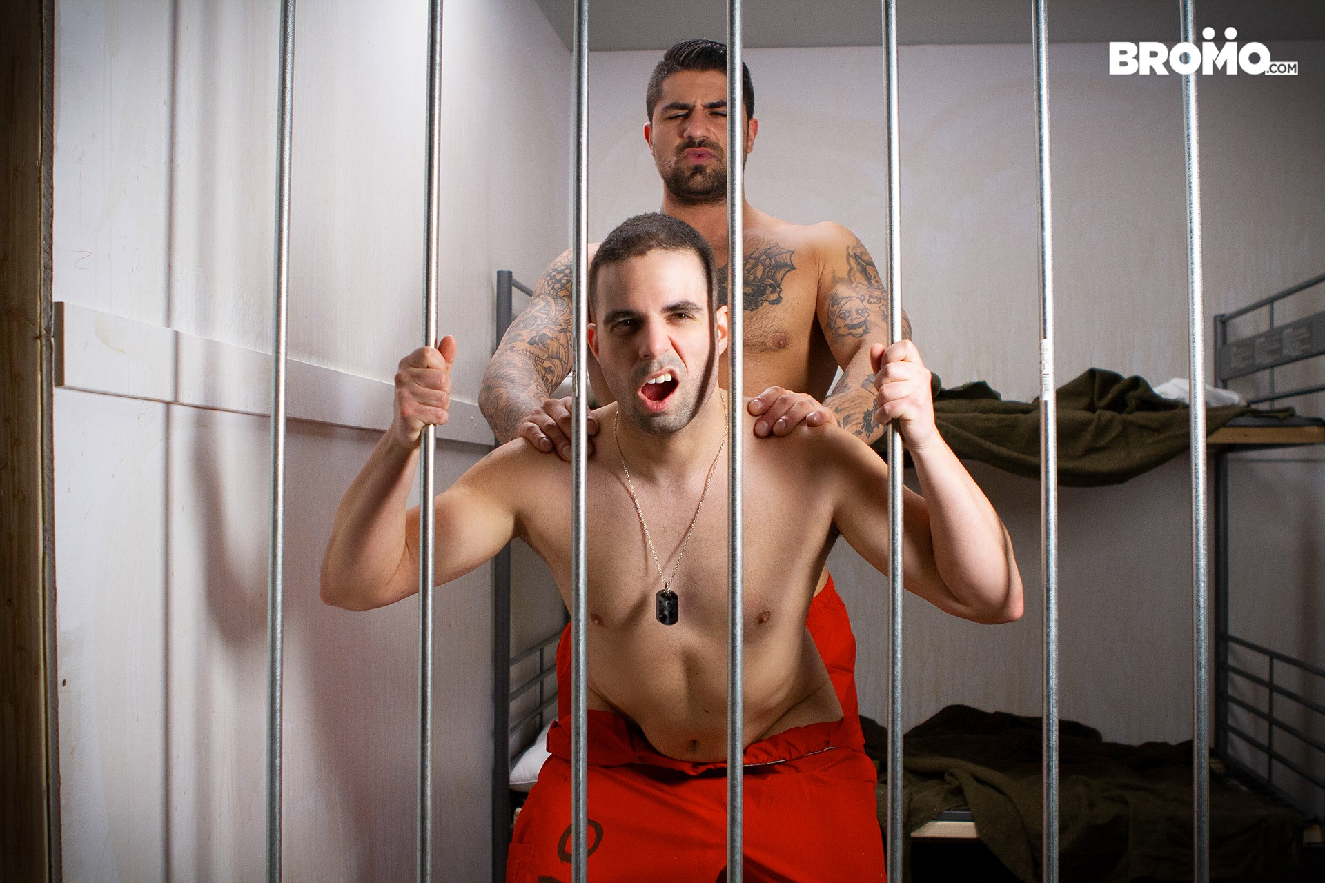 Bareback prison gay porn from the site Bromo