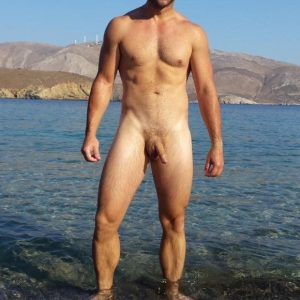 Semi Hard Nudist Cock
