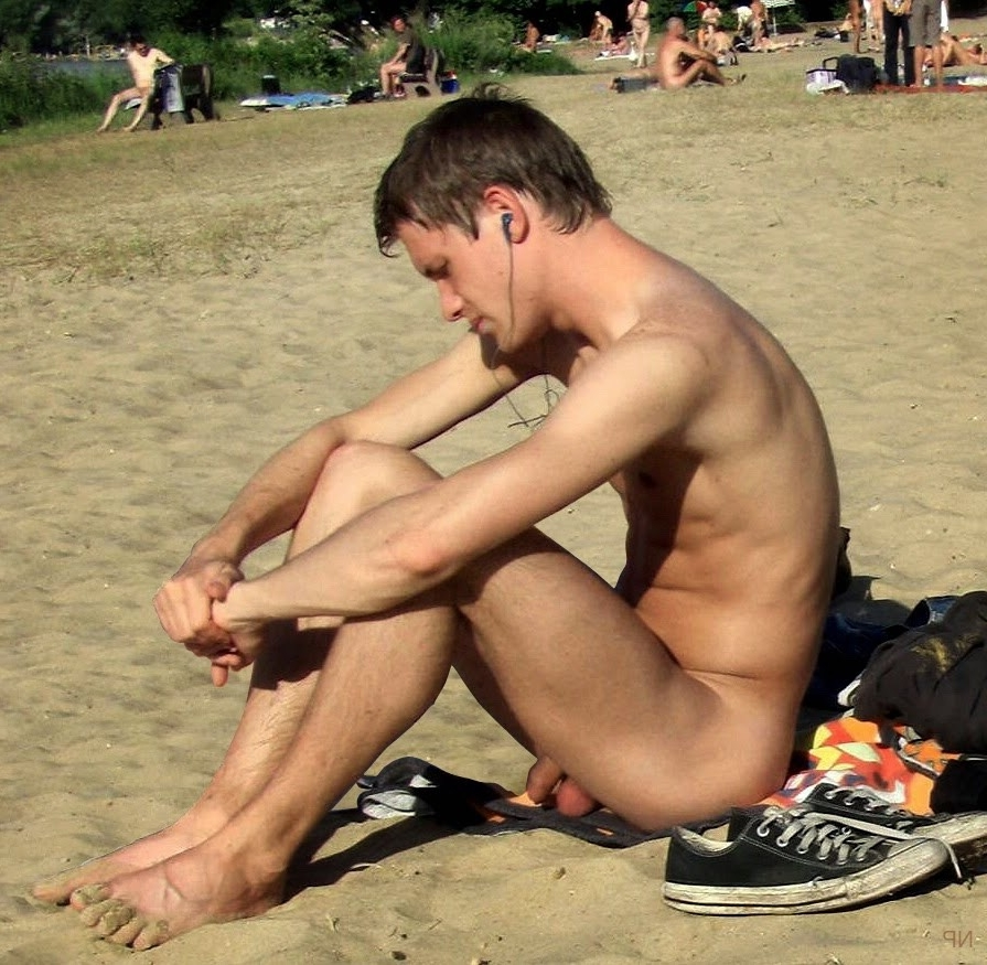 Sexy nude beach man