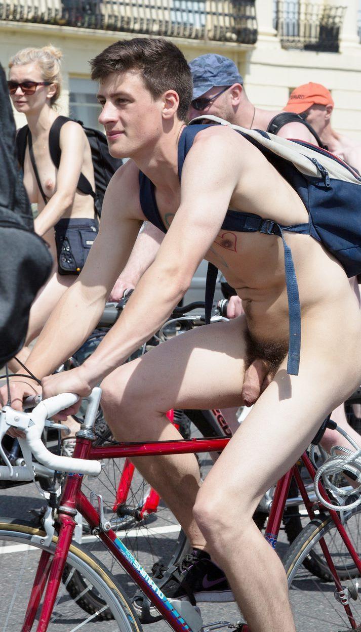 Sexy nude guy in public