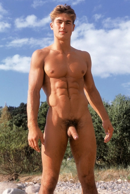 Nudist stud with a hot body