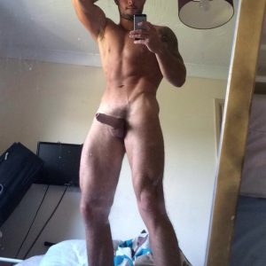 Tall nude guy with a boner
