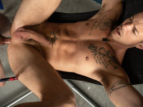 Tattooed guys bareback fucking