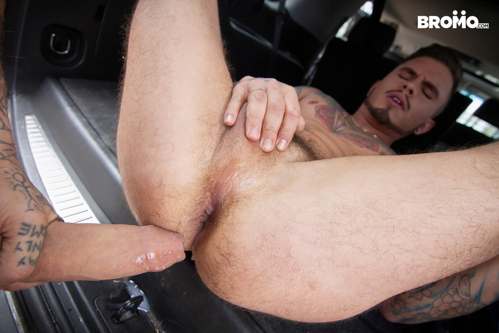 Tattooed men having hardcore gay sex